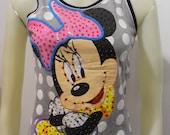 Vintage Minnie Mouse Jewelled Tank Top