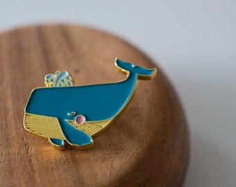 Mini Blue Whale ENAMEL PIN
