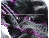 Crochet afghan pattern, Granny Square blanket, Pattern Only