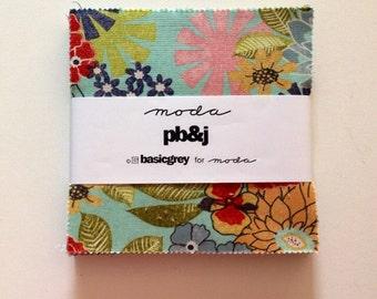 Rare PB&J charm pack by Basicgrey or Moda