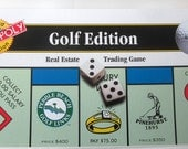 Golf Edition Real Estate Monopoly Game Toy Pewter Markers New Factory Sealed Accessories Authorized 1996 Hasbro