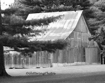 Weathered, Barn, Hall, Indiana, Morgan County, Fine Art, Photography, Print, Glossy, 8 x 10, No 2
