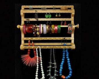ON SALE Hanging Combo Earring Necklace Bracelet Storage Holder Display