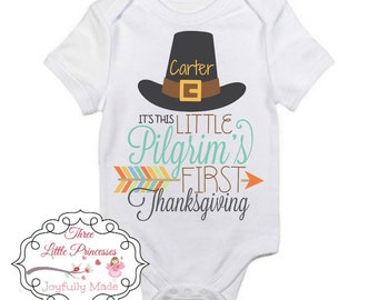 Personalized First Thanksgiving Onesie or T Shirt - Thanksgiving Shirt - Thanksgiving Tee