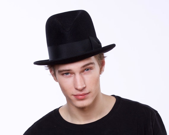Mens Felt Fedora Hat 1920's Men's Hat Men's Accessories Spring Fashion Custom Hat Men's Fedora Open Crown Fedora 1930s Men's Hat Mad Men Hat