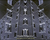 DOUBLE PERSPECTIVE, Homage to Escher, Clyde Keller Photo, large 16x20 inch Fine Art Print, toned Black and White, Signed, from 1977 negative