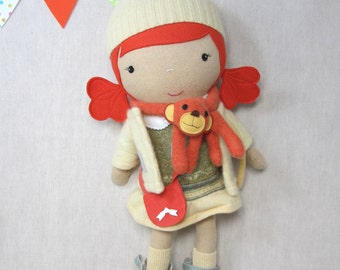 Studio Doll Large - Lucy. Handmade, Doll, Eco Friendly, Plush, Toy, Children, Gift
