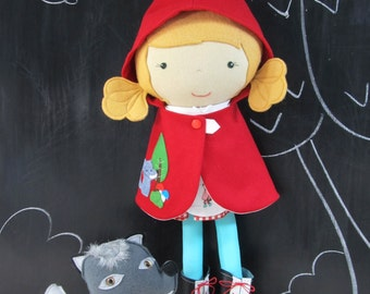 Doll Capelet - Studio Doll Boutique - Red Riding Hood Cape