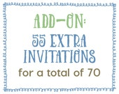 Add-On : 55 Extra Invitations for a Total of 70 Invitations