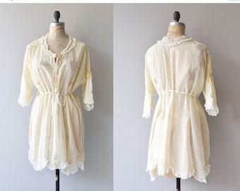 25% OFF SALE Sotto Voce dressing robe | vintage 1920s lingerie | cotton 20s robe