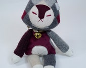 Sweater Fox # 7 - Upcycled felted wool sweater OOAK plush