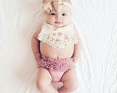 Baby Girl Dusty Rose Bloomers BLOOMERS ONLY Newborn Photography Lolabeanclothing Cake Smash