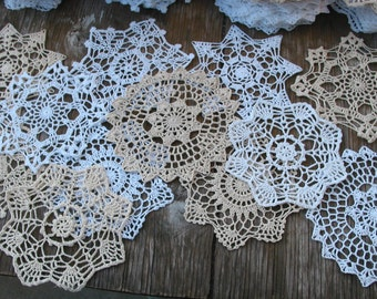 "lot of 120 Hand Crochet 7"" RD Doily for Cottage/Victorian/Shabby/Boho/French Style,Tea Party, Vintage Wedding, Free USA shipping"