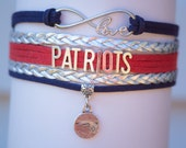 New England Patriots Football Handmade Infinity style Bracelet