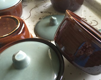 Red Wing Pottery Village Green Casserole Dishes