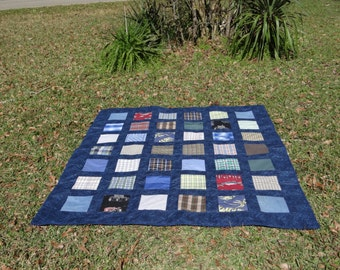 Clothing turned into a Memory Quilt for your Loved One