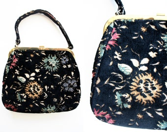 Jana Brand Velour Carpet Vintage 70's Handbag