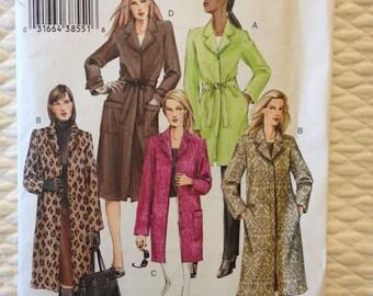 Sewing Vogue Basic Design Coat V7942 Sizes 14-16