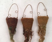 Wet Felted Vessels Set of Three Dry Vases Fiber Art Project Treasure Holder Delaware Fun A Day Project Set No.1