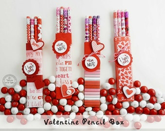 "Valentine Pencil Box Tags  ""Be mine""  &  ""I Love You"" Tags  Classroom Gifts, Teacher Appreciation Kid's Gift"