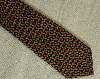 Men's Silk Necktie - John Comfort - Made in  England - Vintage