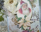 """Christmas Card Vintage Style """"Warm Holiday Wishes"""""""