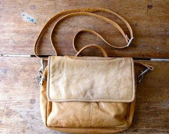 Brown Leather Boho Bag Top Handle Purse Worn In Supple 90s Shoulder Purse Hobo Bag Crossbody Bohemian Purple Hipster 1990s Purse