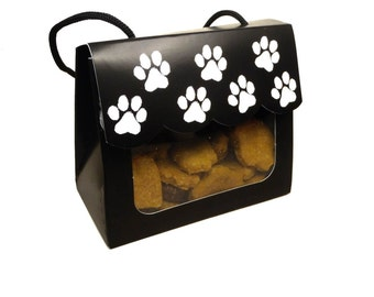 Paw-rrific Dog Treats - Gourmet Window Gift Tote Gift Box- - Gourmet Dog Treats Vegetarian All Natural - Shorty's Gourmet Treats