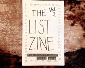 The List Zine Vol. 1