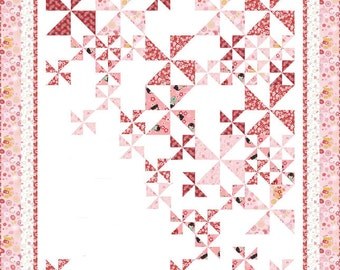 Cherry Blossom festival Princess Aiko pink quilt kit from Benartex and Pat