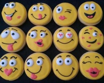 Smiley Face Cookies - 12 Cookies