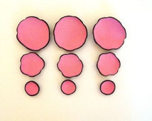 DIE CUT leather flowers. Jewelry supplies leather petals. Cabochon flowers