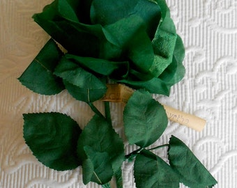 Antique Green Silk Flower