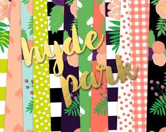 Hyde Park Digital Paper Pack (Instant Download)