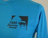 on sale Vintage SAMSON STOMP 1988 long sleeve t-shirt medium made in USA milwaukee zoo
