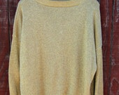SHINE!- vintage 80s lurex oversize sweater XL XXL