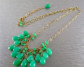 End Of Summer Sale Chrysoprase Necklace