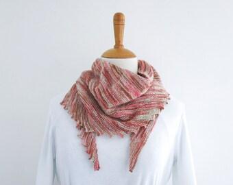 Scarflette - Rose Garden.Hand Knit Scarf.Womens Scarf.