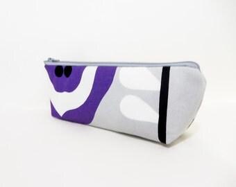 Marimekko Pouch, Medium Zipper Pouch, Pencil Pouch, Teacher Gift, Purple Pouch, Pouch, Fabric Pouch, Gift for Her, Marimekko Purple Circles