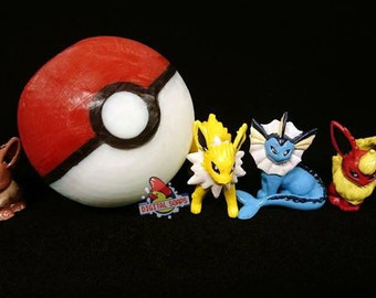 Pokeball Soap Set of Four Eeveelutions Hand Painted Toys Inside