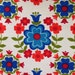 Vintage european floral fabric