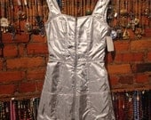 Crazy vintage 90s shiny silver sport dress by MTM Mugler Trademark (Thierry Mugler) //high fashion //couture //paris //sport goth //deadstoc