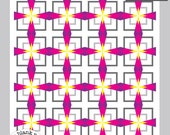 Cathedral Squares #221.2 - 12in and 18 in Sizes - Paper Piecing Quilt Pattern PDF