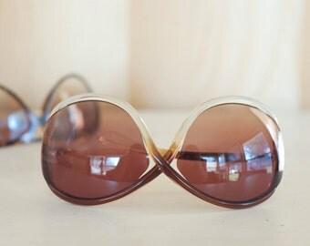 vintage 80's large sunglasses / shades / designer glasses