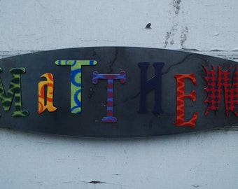 COLORFUL - Painted Metal Letter Magnets - Metal - 3 inch Steel