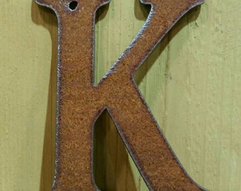 "4 ""  Metal Rustic Letters - ORDER as many letters as you need"