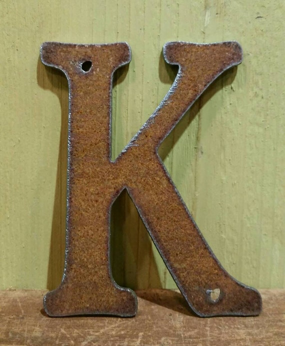 4 Metal Rustic Letters ORDER As Many Letters As You