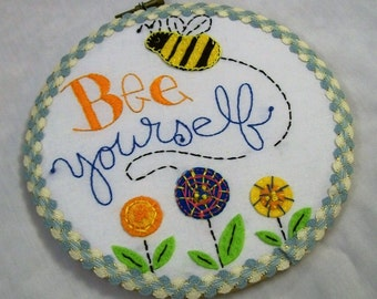 Hoop Art, Embroidery Hoop Art, Be Yourself, Embroidered Wall Art, Home Deco, Hand Embroidery, embroidered art, handmade,