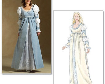 McCall's M5444 Medieval Italian Renaissance Dress Costume Pattern, Misses (6-12), LARP, SCA, Italian Court Gown