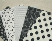 FAT QUARTER Bundle - Black & White, Designer Cotton Quilt Fabric, Quilting Fabric, Fat Qtr (#74)